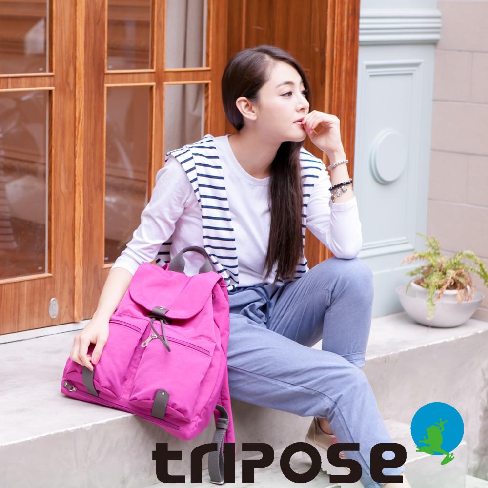 tripose MOVE系列輕量防潑水機能後背包(大) 桃紅