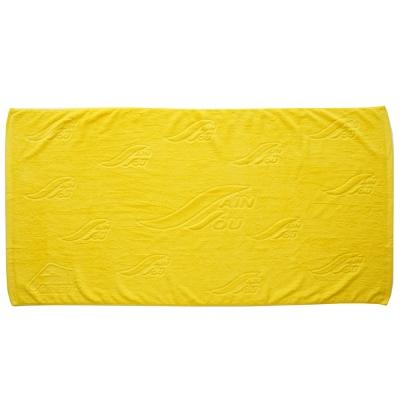 聖手牌 浴巾 緹花大浴巾(黃色)