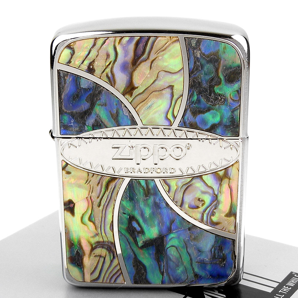 ZIPPO 日系~Shell Inlay-天然貝殼鑲嵌貼飾打火機 @ Y!購物