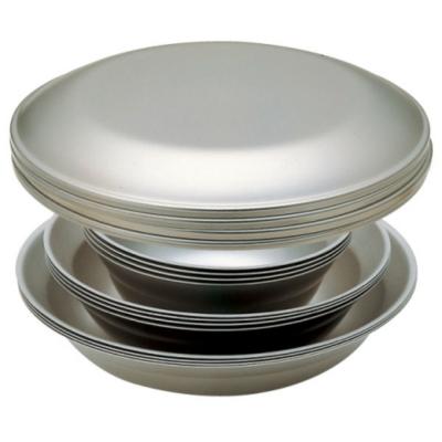SNOW PEAK TW-021F 不鏽鋼餐盤組 -4人四件組