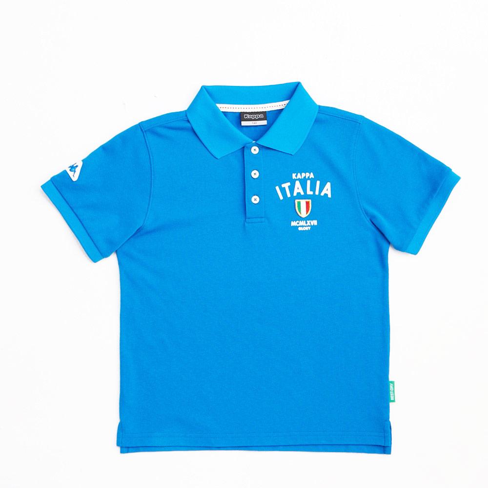 KAPPA義大利小朋友吸濕排汗速乾彩色POLO衫~義大利藍色