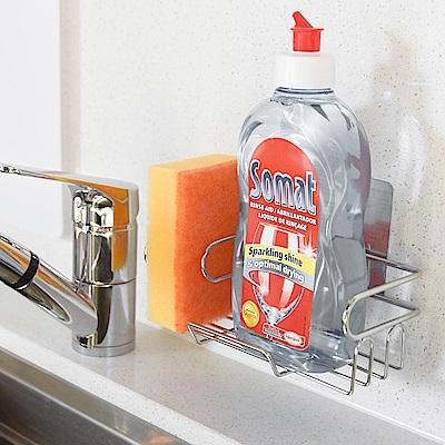 樂貼工坊 不鏽鋼洗碗精架/菜瓜布架/金屬貼面-17x8x6