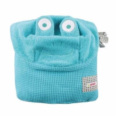 Minene新生寶寶沐浴巾-藍色小蛙/115cm x 85cm