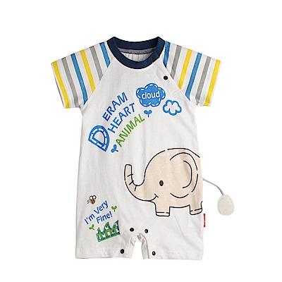baby童衣 動物立體尾巴連身衣 80081