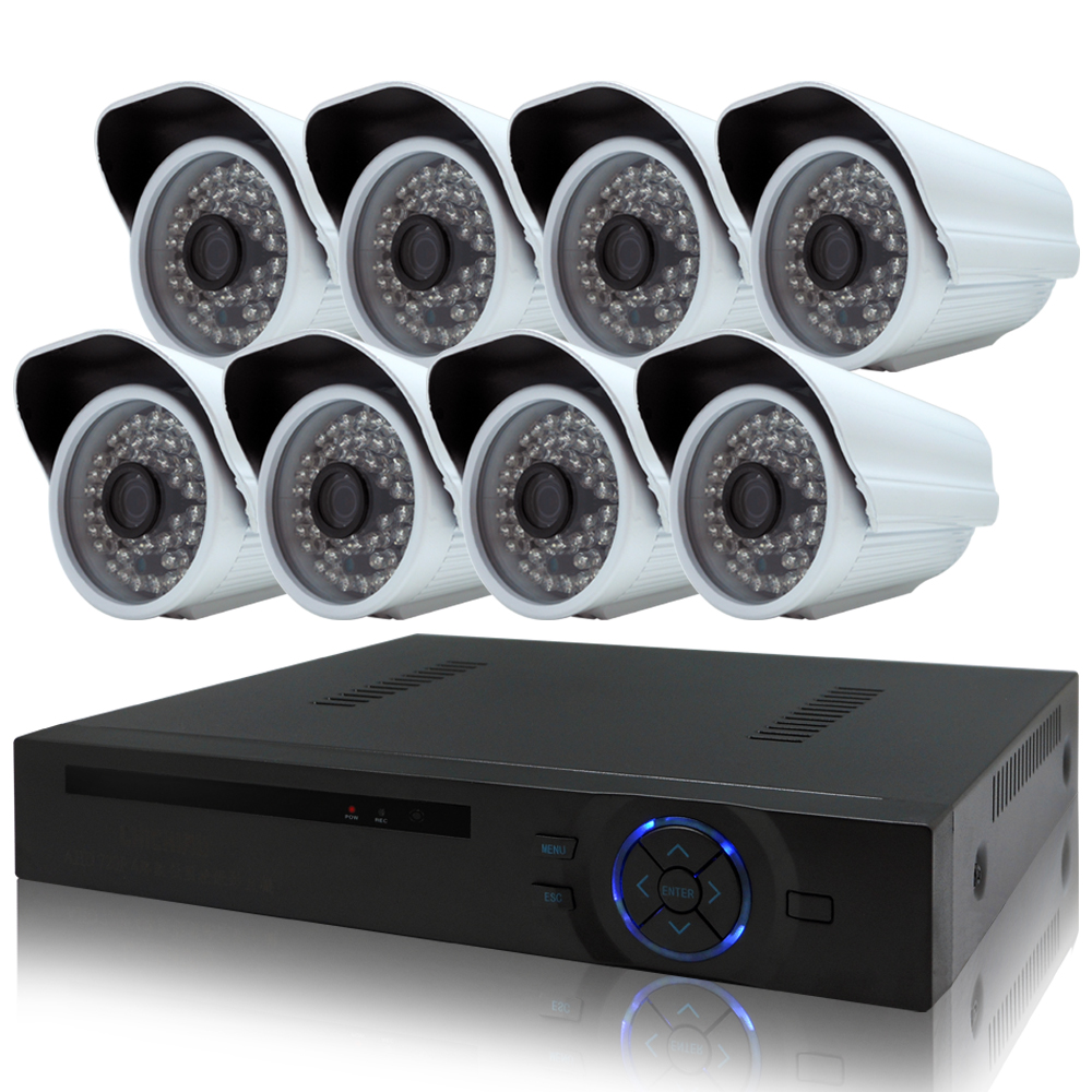 奇巧 8路4聲HD1080P數位高清監控組(含720P130萬畫素攝影機x8)