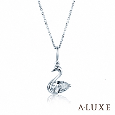 A-LUXE 亞立詩 0.30克拉FVS2 Swan水滴梨型鑽項鍊