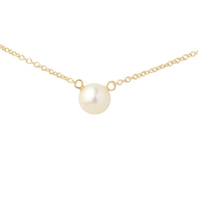 Dogeared 美國品牌優雅氣質金色項鍊-白珍珠