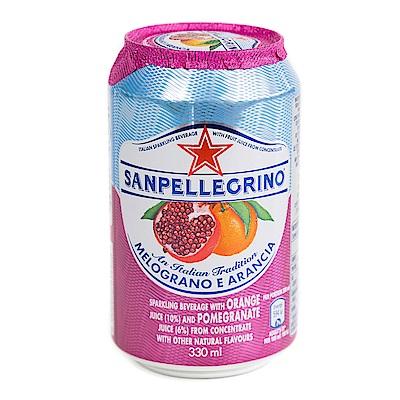 聖沛黎洛 氣泡水果飲料~柑橘紅石榴口味 330mlx12入