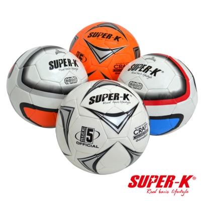 美國品牌【SUPER-K】5號PVC車縫足球
