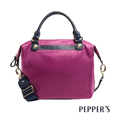 PEPPER`S Robin 牛皮尼龍水餃包 - 胭紫