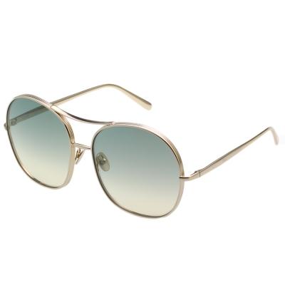 CHLOE金屬大框 太陽眼鏡-金框- CE128S