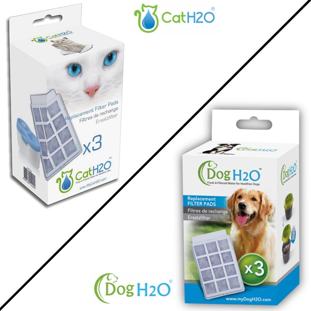 DOG&CAT H2O 有氧濾水機 專用活性碳濾棉 2L/6L 3入裝x4盒