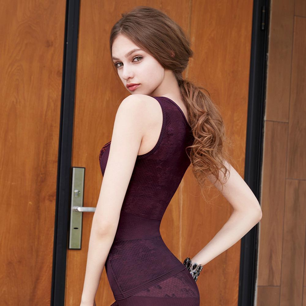 曼黛瑪璉 美型顯瘦 寬肩帶V領背心S-XL(復古紫)