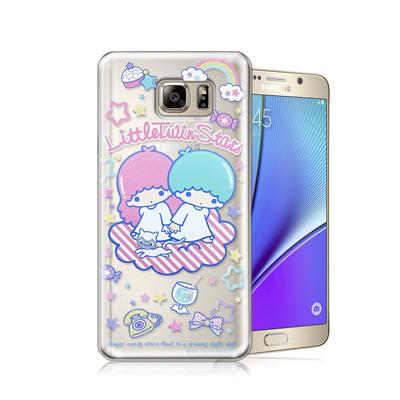三麗鷗正版 雙子星 Samsung Galaxy Note 5透明軟式保護殼(休...