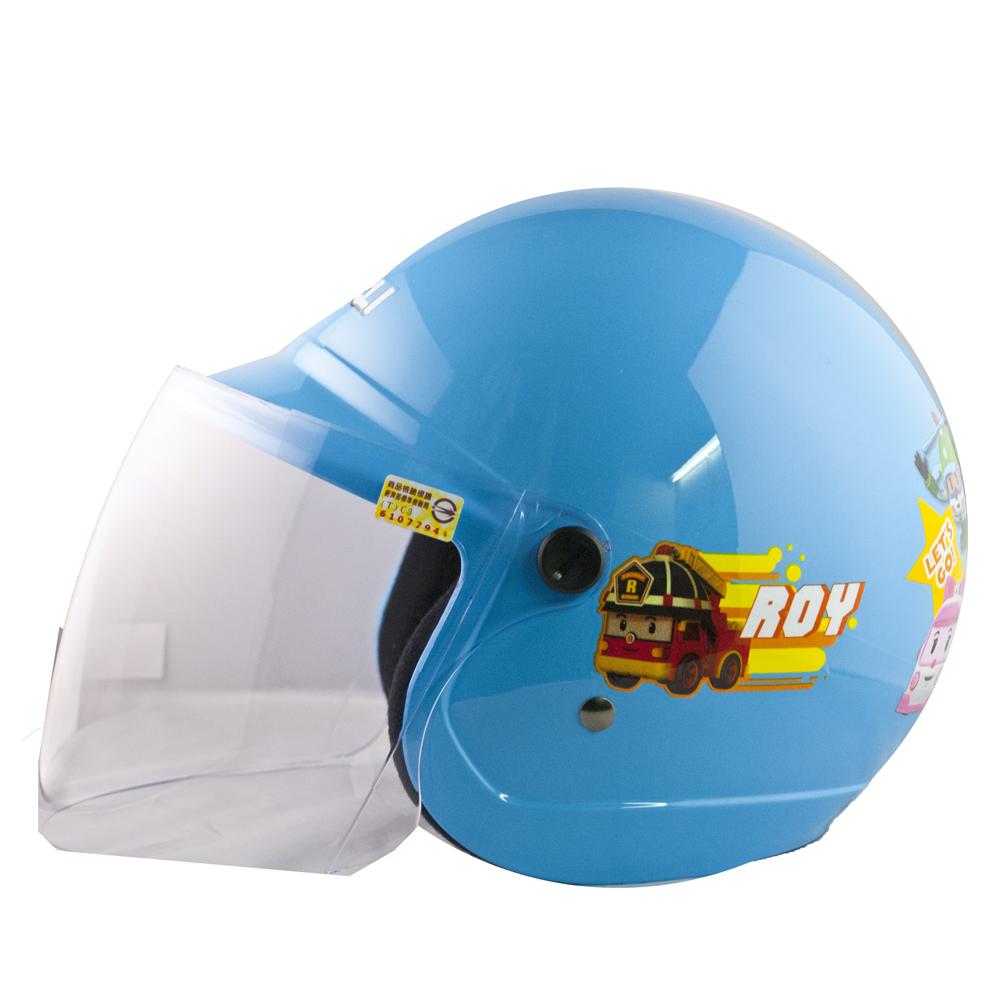 波力救援小英雄POLI兒童半罩安全帽(中童)