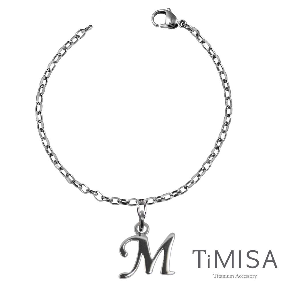 TiMISA《動感字母》純鈦手鍊(S)