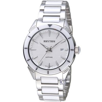 麗聲錶 RHYTHM 天使之心陶瓷腕錶(F1207T01)白/38mm