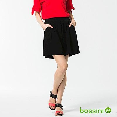 bossini女裝-時尚褲裙03黑