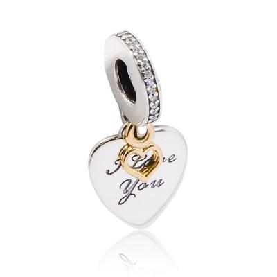 Pandora 潘朵拉 永遠愛你 鍍14k金愛心 純銀墜飾 串珠