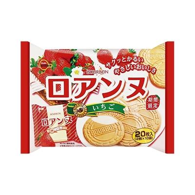 Bourbon北日本 法蘭蘇威化餅家庭號-草莓風味(142g)