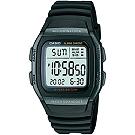 CASIO城市個性休閒電子錶(W-96H-1B)-全黑/38mm