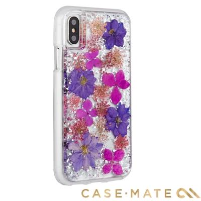 美國 Case-Mate iPhone X Karat Petals 真實花朵手機殼-紫色