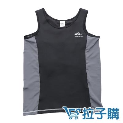 束胸泳衣-運動拼色無袖拉鍊式束胸泳衣-LESGO