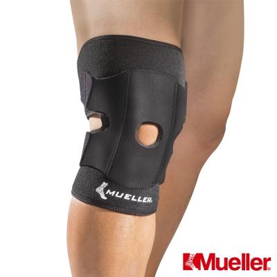 MUELLER慕樂 髕骨強化 可調式膝關節護具 黑色(MUA57227)