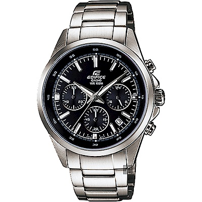 CASIO 卡西歐EDIFICE 經典賽車計時手錶-黑x銀 EFR-527D-1AVUDF