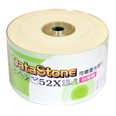 DataStone 精選日本版 正A級 CD-R  52X 珍珠白可印片 (100片)