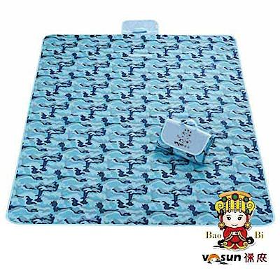 【VOSUN】環保防水防潮野餐墊 XL (媽祖限量 200x145cm)_迷彩藍