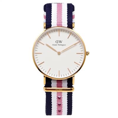 DW Daniel Wellington 經典Southampton女腕錶-白/金框/36mm