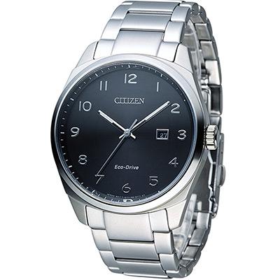 CITIZEN 星辰 光動能紳士時尚腕錶(BM7320-87E)-黑/42mm