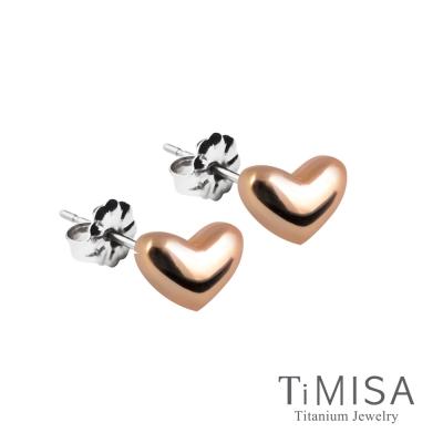 TiMISA-鈦真心-純鈦耳針一對-雙色可選