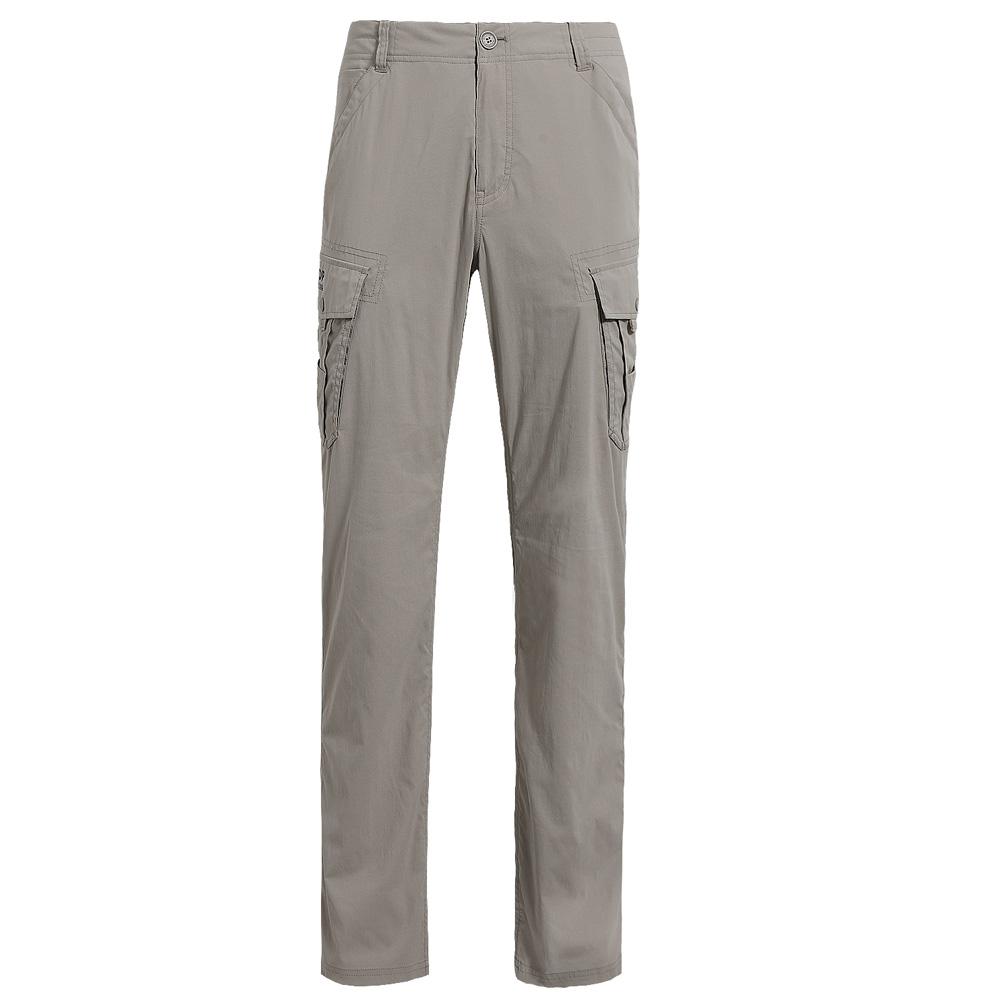 【hilltop山頂鳥】男款抗UV吸濕快乾彈性長褲S07M88-卡其