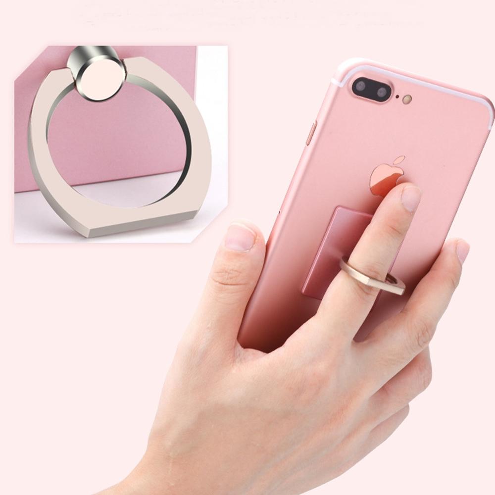梨花HaNA IPHONE三星HTC360度旋轉手機平板防摔金屬指環支架
