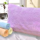 義大利La Belle 純色花卉 無捻紗枕巾-2入-紫