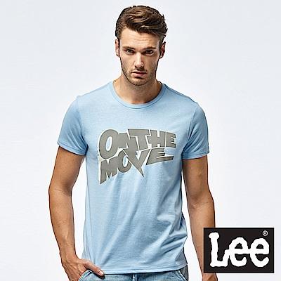 Lee On the move 標語短袖圓領TEE-男款-藍色