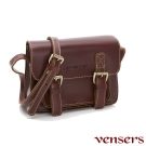 vensers小牛皮潮流個性包~斜肩背包(ND213301棕色光面)