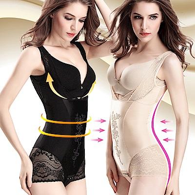 塑身衣 3S美體420D美體花語超束提胸縮腹三角束衣 2件組 ThreeShape