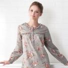 羅絲美睡衣 - 繽紛盛宴長袖洋裝睡衣(繽紛灰)