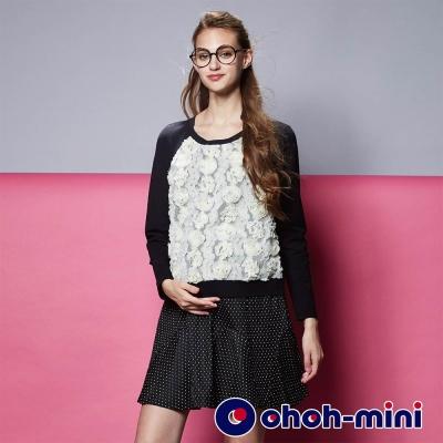 ohoh-mini-孕婦裝-立體蕾絲花孕婦洋裝-2款