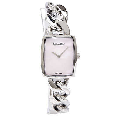 CK Calvin Klein  Amaze 閃耀驚豔女性手環腕錶-粉/22mm