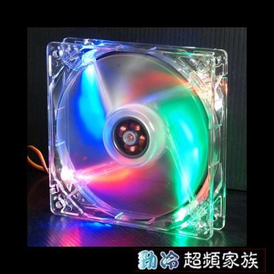 EVERCOOL勁冷超頻家族 12公分LED燈系統風扇(四色燈)CLB12025-4LD1