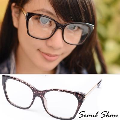 Seoul-Show-貓眼方框-平光眼鏡-2049灰琥珀