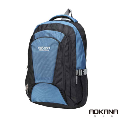 AOKANA奧卡納 輕量防潑水護脊紓壓機能電腦後背包(紳士藍)68-087