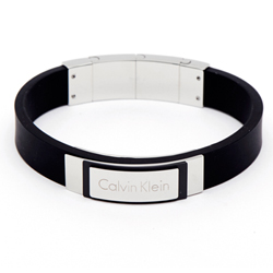CK Calvin Klein 簡單時尚款黑色手環