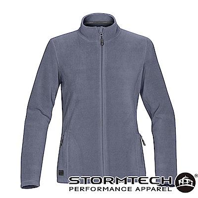 【加拿大STORMTECH】VFJ-1W中層FLEECE保暖拉鍊外套-女-灰藍