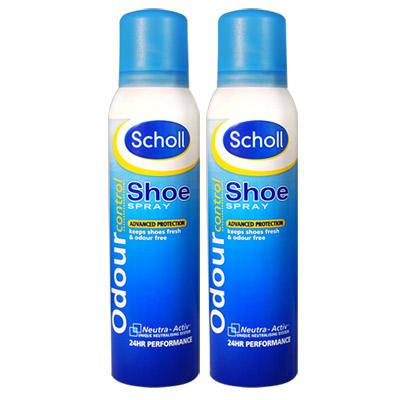 Scholl爽健-除鞋臭噴霧150ml-2入