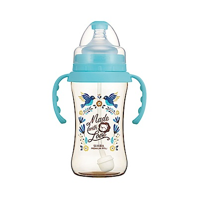 小獅王辛巴 桃樂絲PPSU自動把手寬口雙凹中奶瓶(270ml)